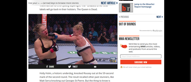 Une vidéo de UFC sur Bleacher Report - Après (avec Express VPN)