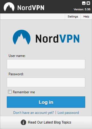 NordVPN - Interface