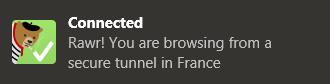 TunnelBear - Connexion sécurisée
