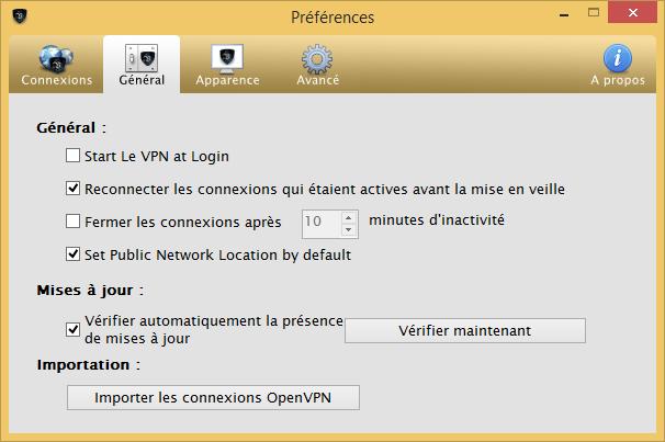 Le VPN - Réglages