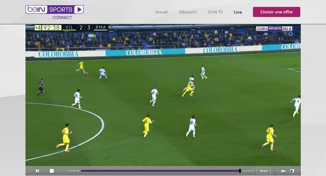 BeIN Sports - Après (Avec Private Internet Access)
