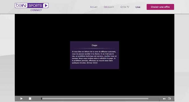 BeIN Sports - Avant (Sans VPN)