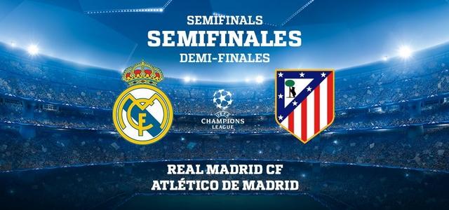 Où et comment regarder Real Madrid - Atlético Madrid (demi-finale Ligue des Champions 2016/2017 aller et retour) en direct en streaming