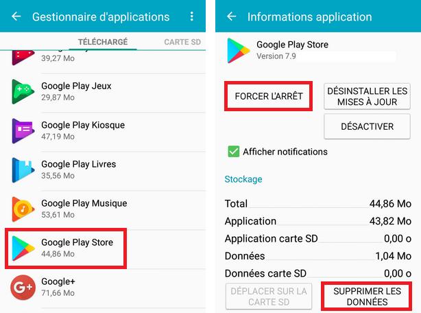 Changer la région / le pays de Play Store