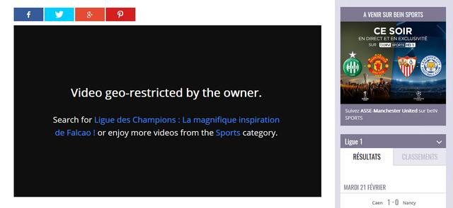 Champions League sur BeIN Sports Avant - Sans VPN