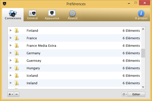 Le VPN - Liste de serveurs