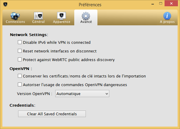 Le VPN - Réglages Avancés