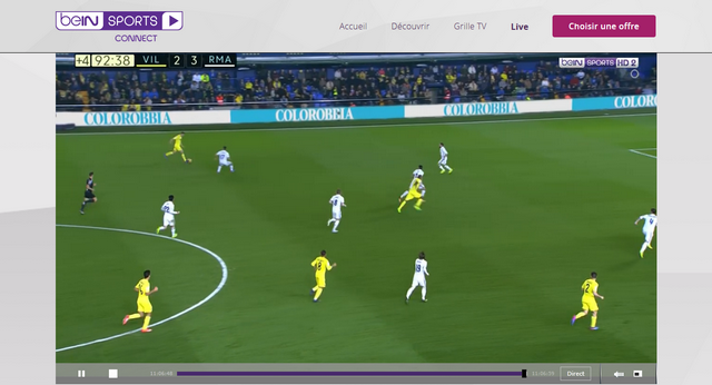BeIN Sports - Après (Avec Private Internet Access)