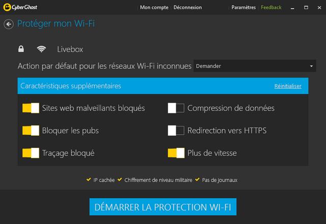 CyberGhost VPN - Protéger le Wi-FI