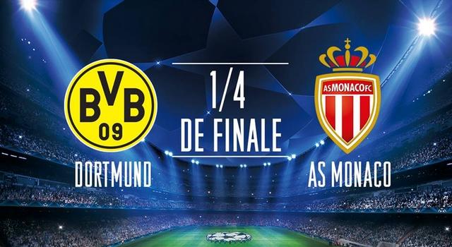 Regarder Dortmund - Monaco en quart de finale de la Ligue des Champions 2016/2017 aller et retour en streaming