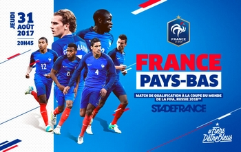 Regarder France - Pays-Bas en direct en streaming (Eliminatoires Coupe du Monde 2018)
