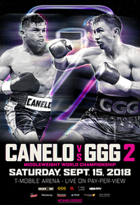 Regarder Canelo Alvarez vs Gennady Golovkin (GGG) 2 en direct en streaming