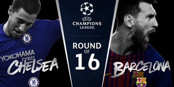 Regarder Chelsea - Barcelone (8ème de finale Ligue des Champions 2017/2018 aller et retour) en direct en streaming