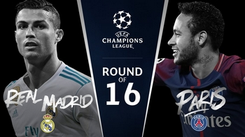Regarder Real Madrid - PSG (8ème de finale Ligue des Champions 2017/2018 aller et retour) en direct en streaming