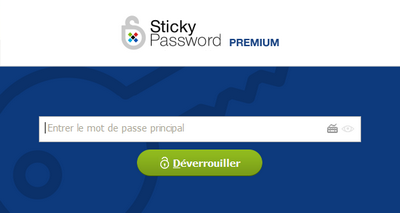 Sticky Password - Mot de Passe Principal