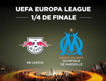 Regarder RB Leipzig - Marseille (quart de finale Ligue Europa 2017/2018 aller et retour) en direct en streaming