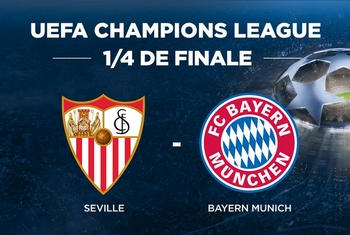 Regarder Séville - Bayern Munich (quart de finale Ligue des Champions 2017/2018 aller et retour) en direct en streaming