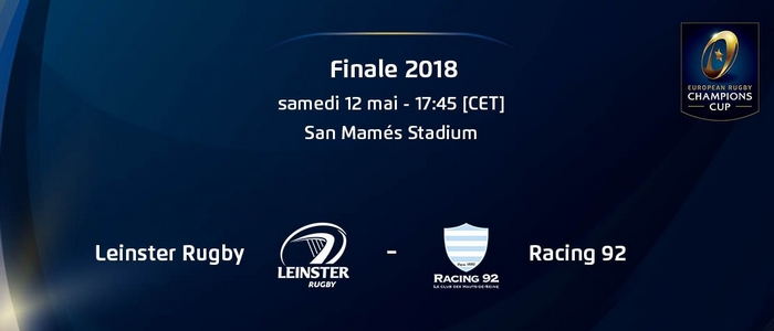 Regarder Racing - Leinster en direct en streaming (finale Champions Cup 2017/2018)