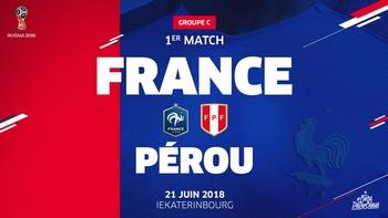 Regarder France - Pérou (Coupe du Monde 2018) en direct en streaming