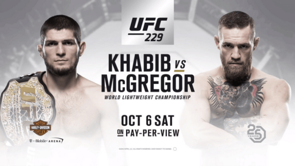 Regarder Conor McGregor vs Khabib Nurmagomedov (UFC 229) en direct en streaming