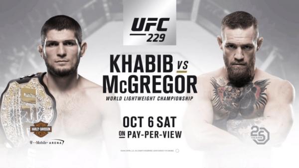 Regarder Conor McGregor vs Khabib Nurmagomedov (UFC 229) en direct en streaming