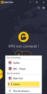 CyberGhost VPN - Connexion 1/2
