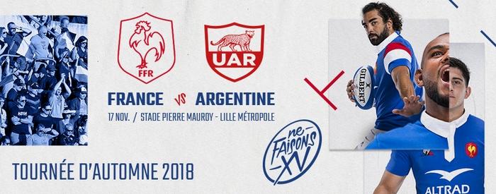Regarder France - Argentine (rugby - test match 2018) en direct en streaming