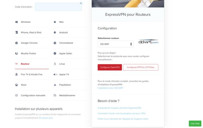 Installer VPN Routeur Flashé
