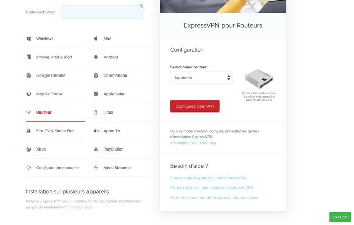 Installer VPN Routeur Original
