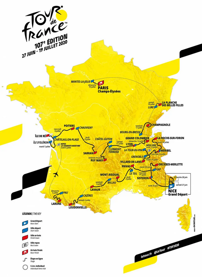 Tour de France 2020 - Parcours