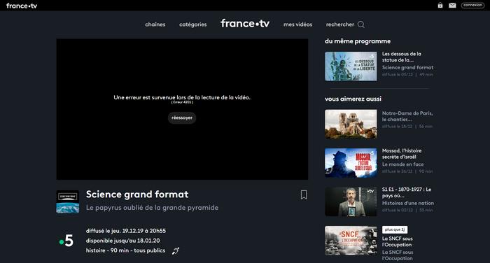 France TV Avant - Sans VPN