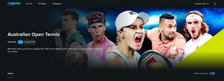 Australian Open sur Channel 9