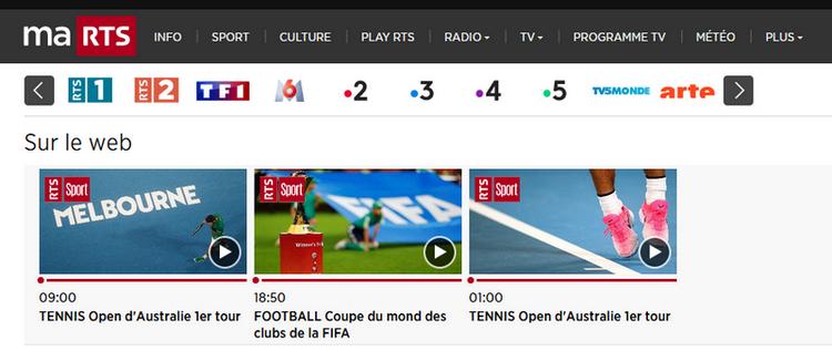 Open d'Australie sur RTS