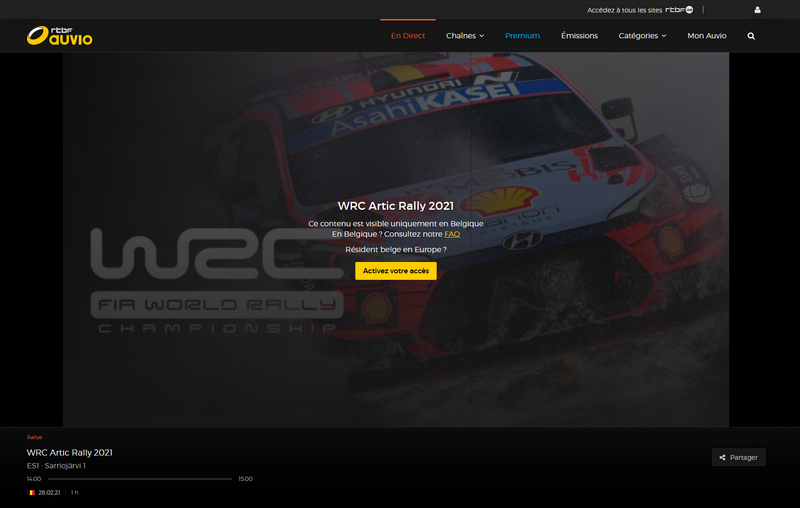 WRC sur RTBF
