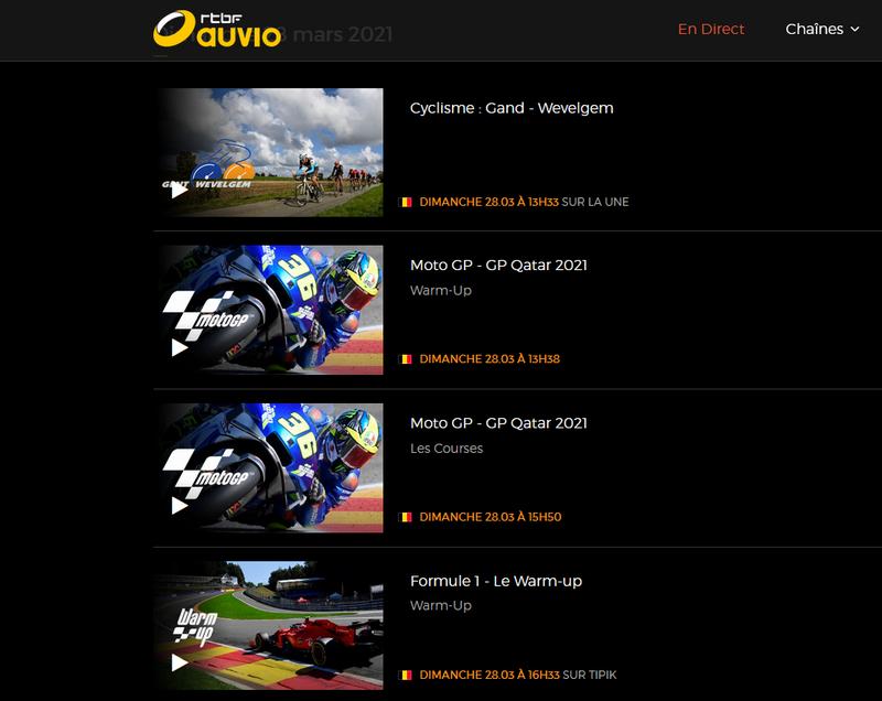 MotoGP sur RTBF