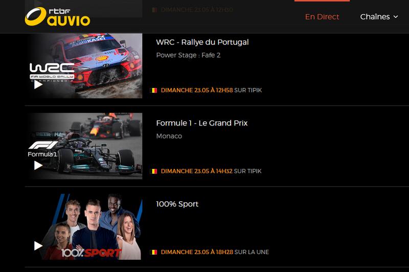 GP de Monaco sur RTBF