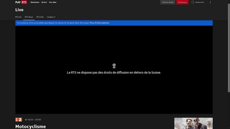 MotoGP sur RTS - Sans VPN