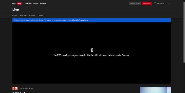 RTS depuis la France, sans VPN (blocage géographique)