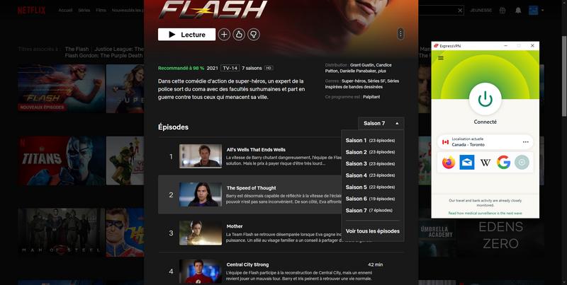 The Flash Saison 6 et 7 sont disponibles sur Netflix Canada