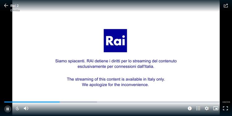 RAI 2 depuis la France, sans VPN