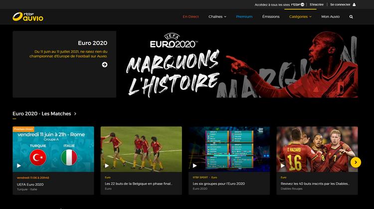 Euro 2020 sur RTBF