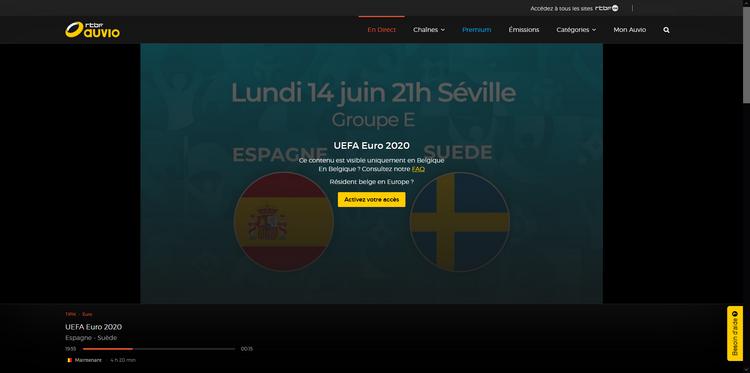 RTBF depuis la France, sans VPN