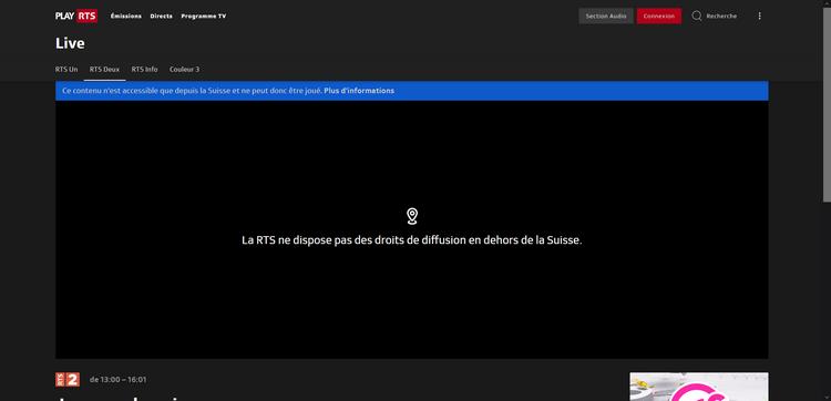 RTS depuis la France, sans VPN