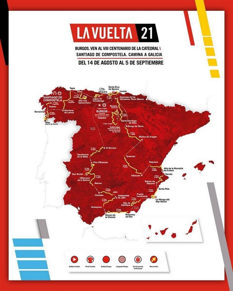 Vuelta 2021 - Parcours